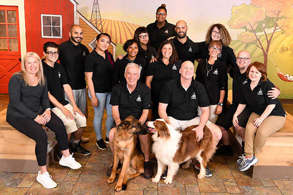 Photo of Toureen's pet daycare and boarding staff members.